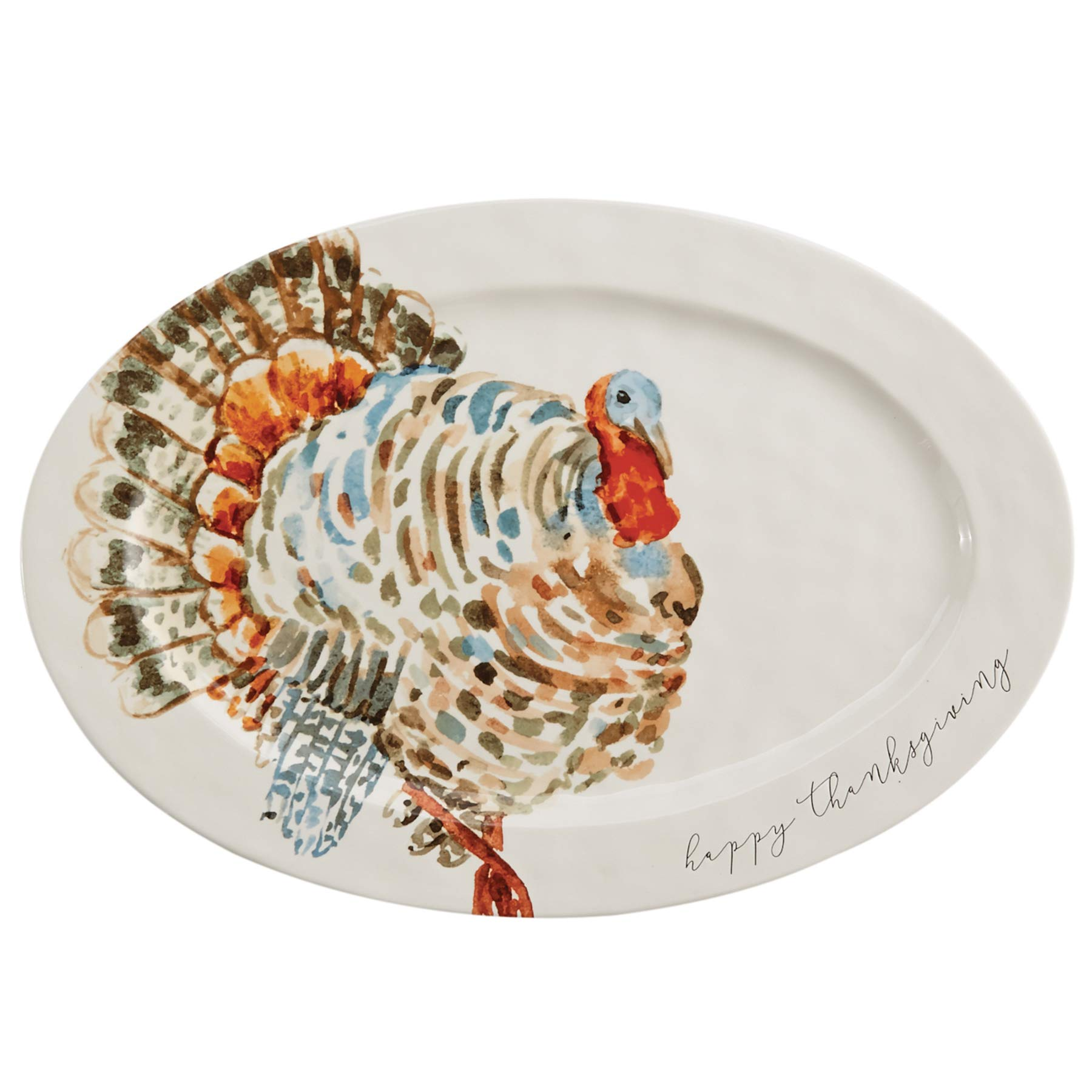 Mud Pie Watercolor Turkey Platter