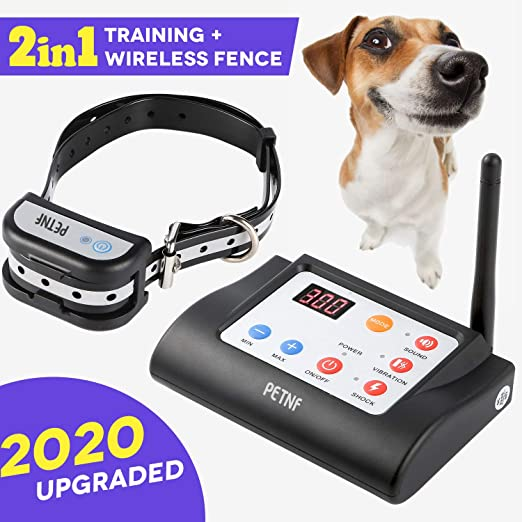 Wireless Dog Fence Outdoor, Electric