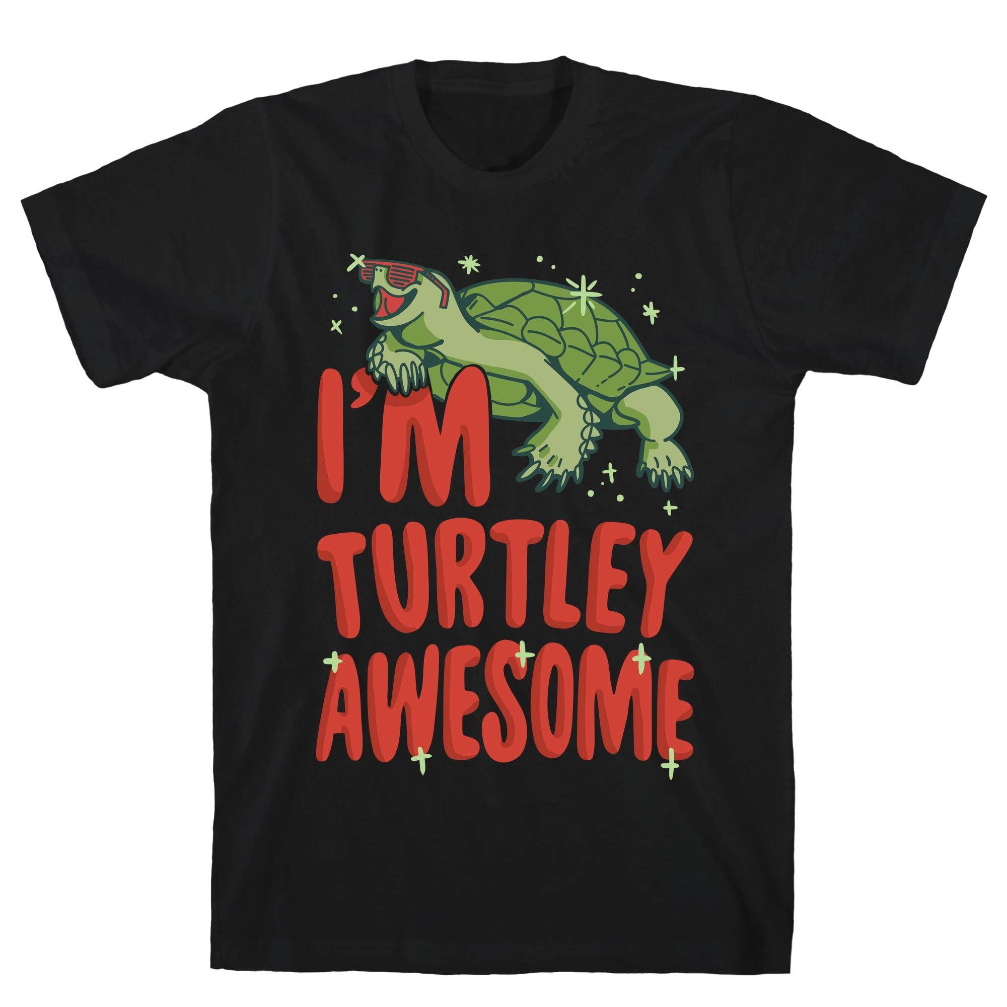 I M Turtley Awesome Black S Ts Shirts