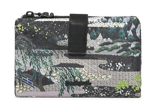 Desigual Explorer Julia Medium Wallet Verde Militar: Amazon ...