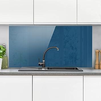 Bilderwelten Spritzschutz Glas - Preussisch-Blau - Quer 1:2 Wandbild ...