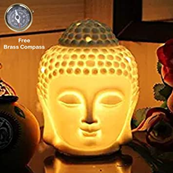 Kartique Buddha Electric Diffuser With Dimmer Switch To Control Fragrance And Light Intensity,Height-5.5 Inch- 1 Bulb & 1 Bottles Of Essential Oil Oil Burners at amazon