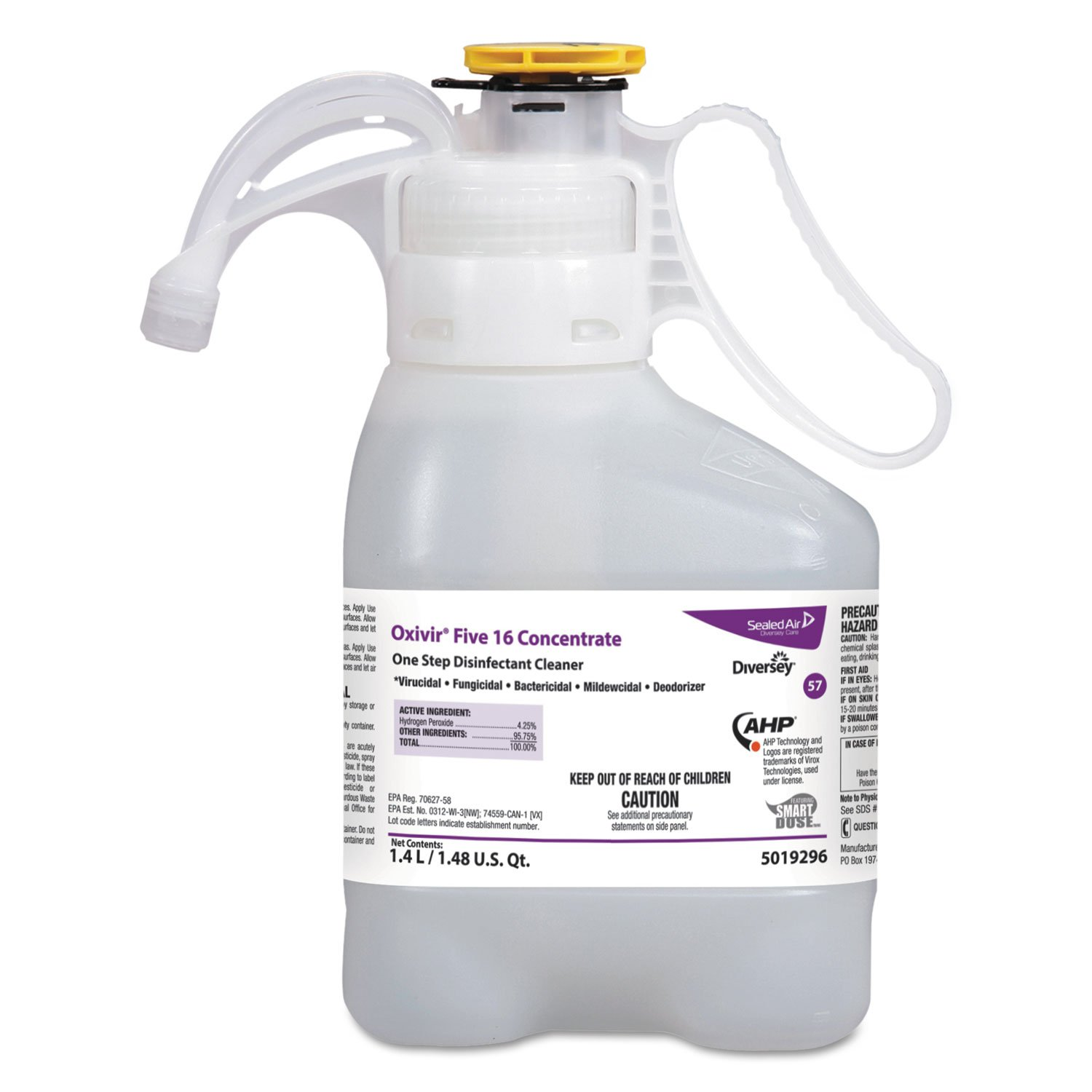 Diversey 5019296 Oxivir Disinfectant Cleaner, Hospital SmartDose Diversey Oxivir Disinfectant Cleaner,