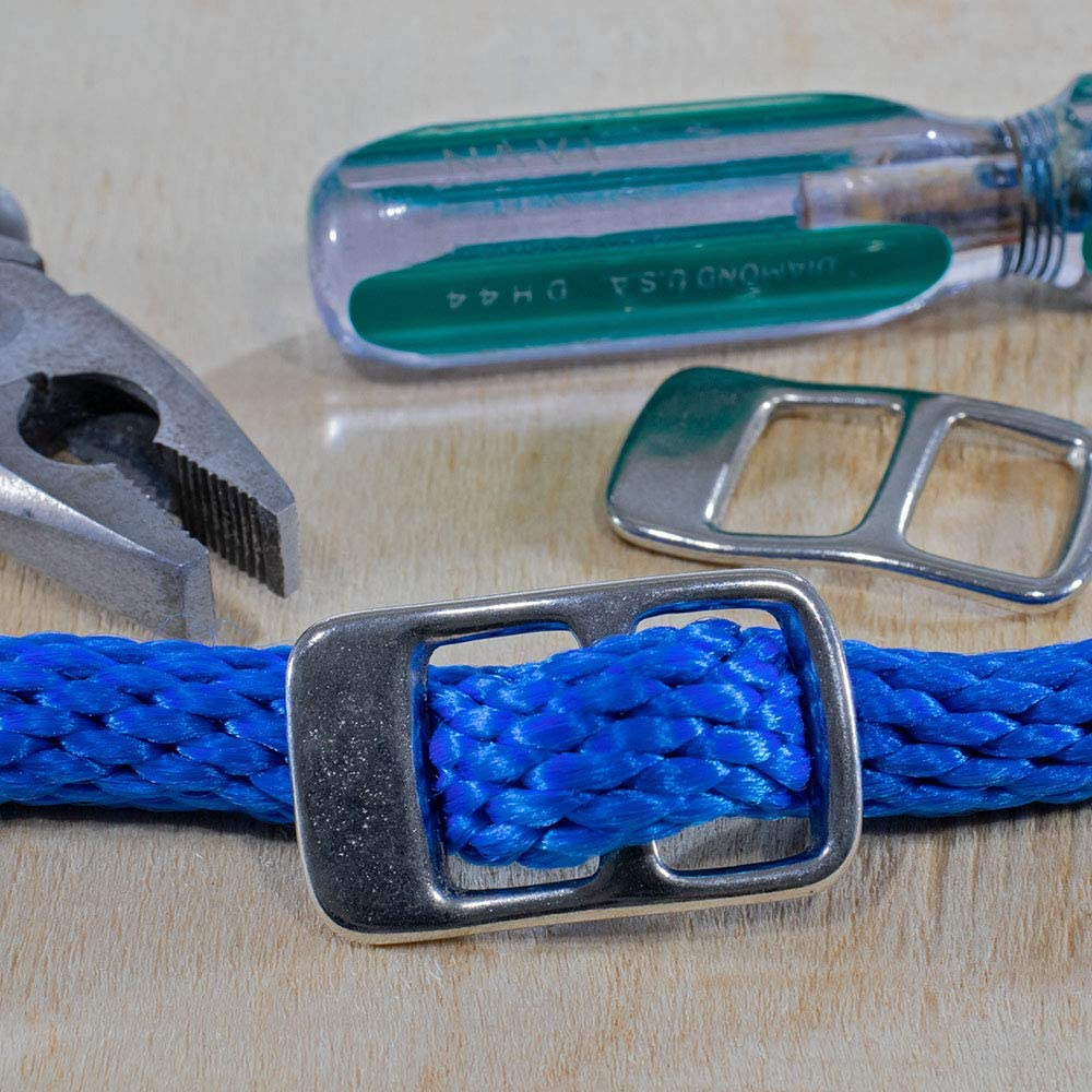 Different Pack Sizes to Choose from Nickel West Coast Paracord 2 Hole Rope Adjuster