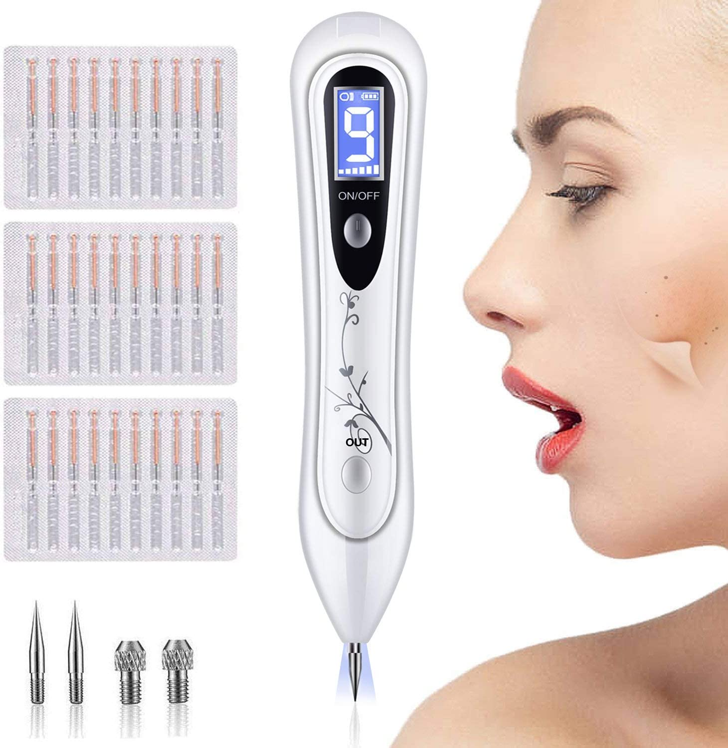 Okeey Skin Tags Remover Pen 9 Adjustable Modes Skin Tag Removal