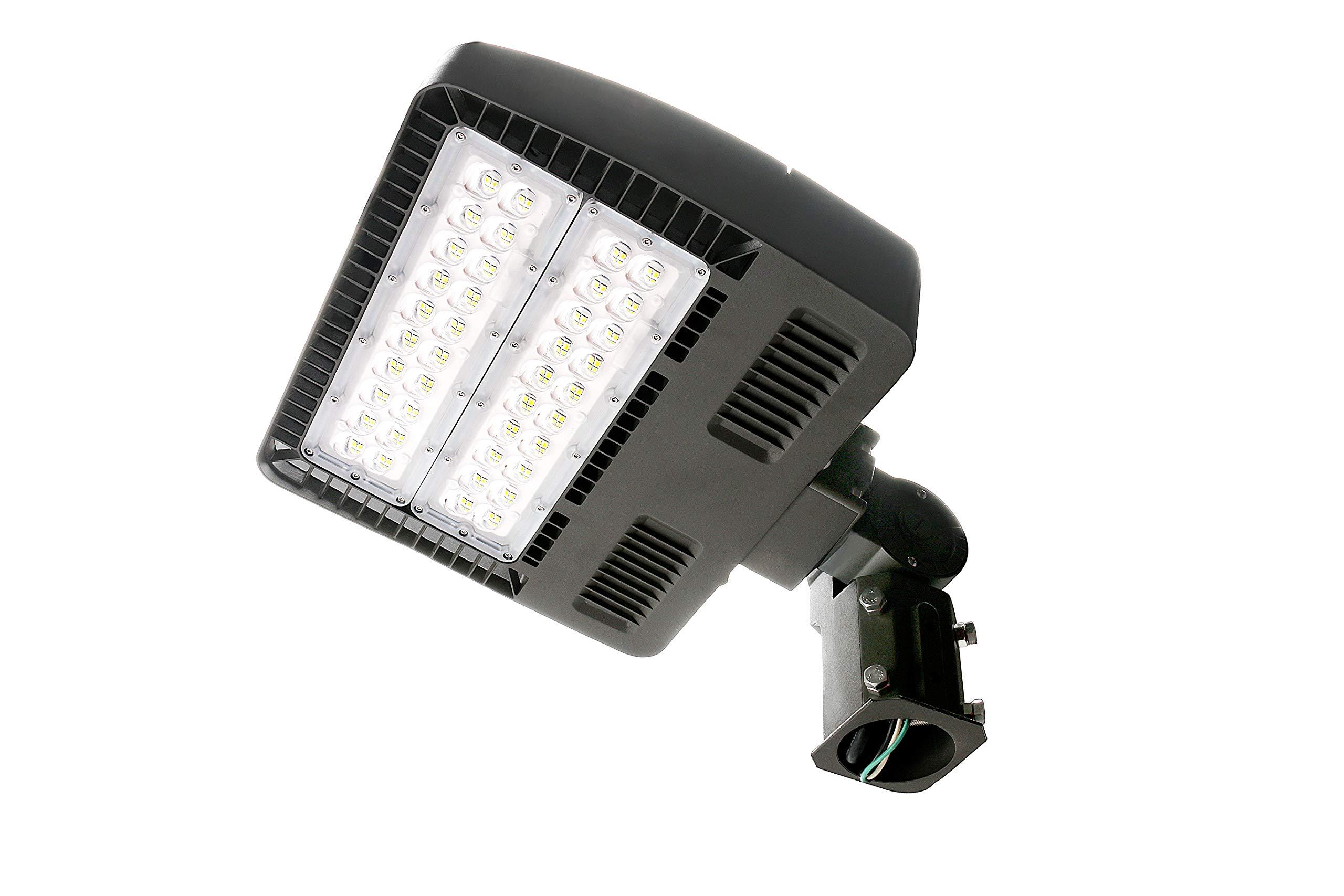 ELECALL LED Parking Lot Light, 150W/18100Lumen, 5000K, Waterproof, IP65, 120-277V, Slip Fitter, ETL-Listed