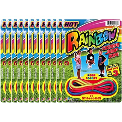 hot sale JA-RU Rainbow Chinese Jump Rope Party Favor Bundle