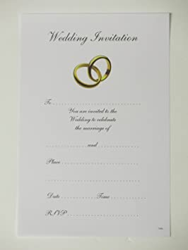 Día de boda invitaciones - dos diseño del anillo - caja de 20 invitaciones y sobres
