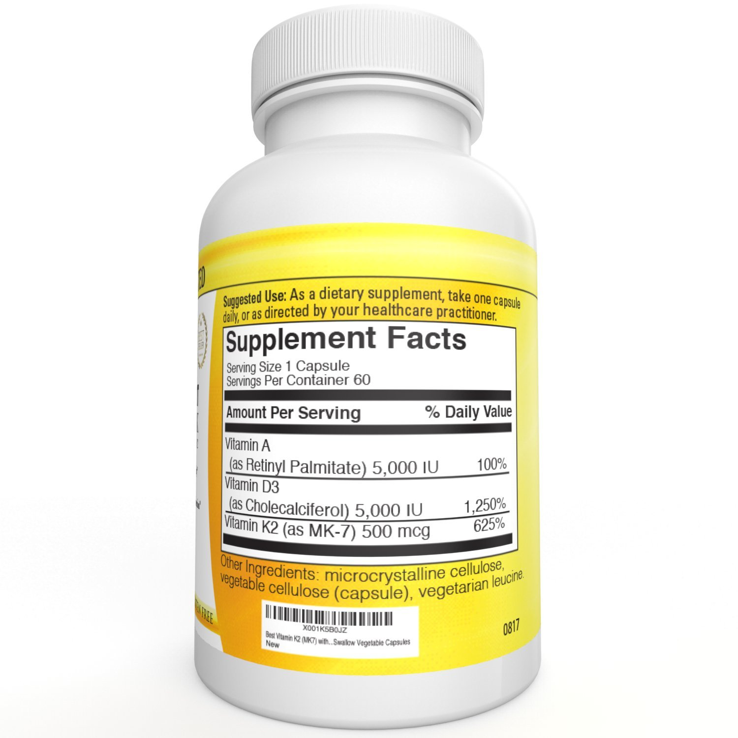 Vitamin A D3 With K2 Vitamin Adk Supplement Bone And Heart Health