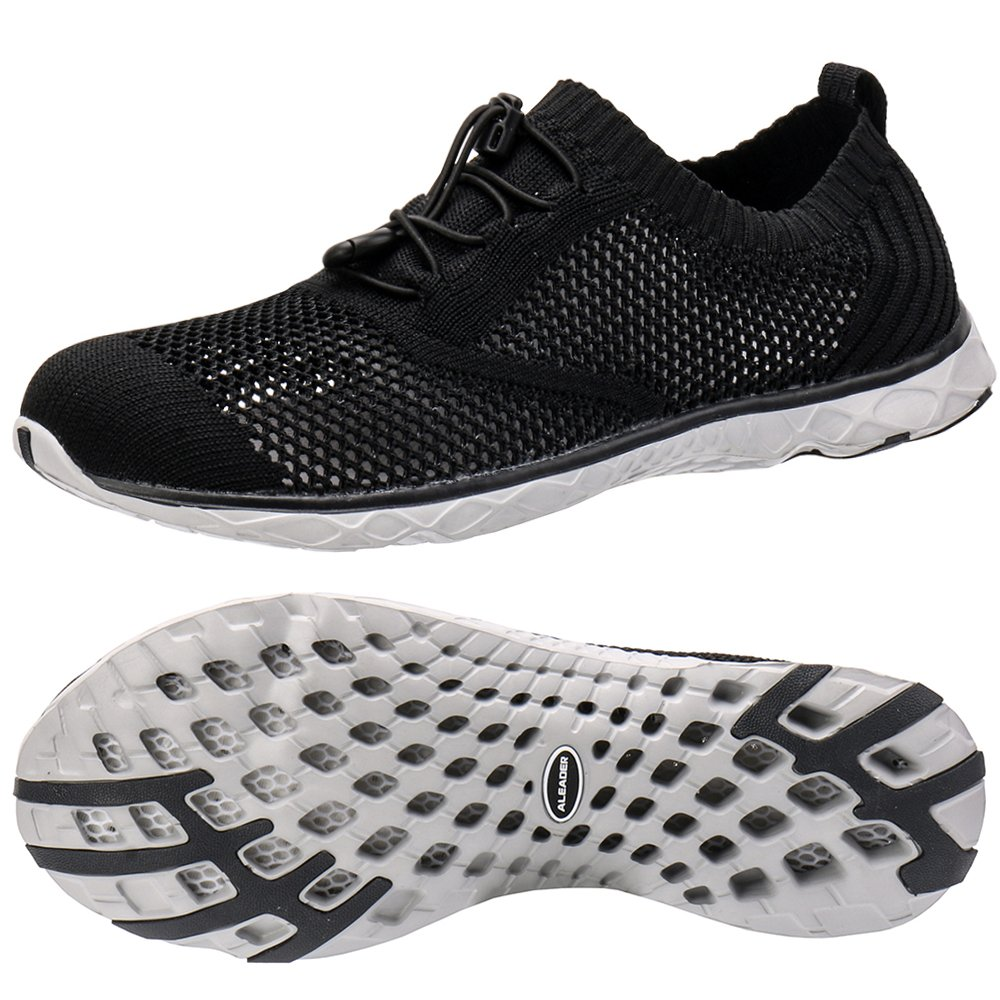 ALEADER Men's Adventure Aquatic Water Shoes Black/Gray 12 D(M) US
