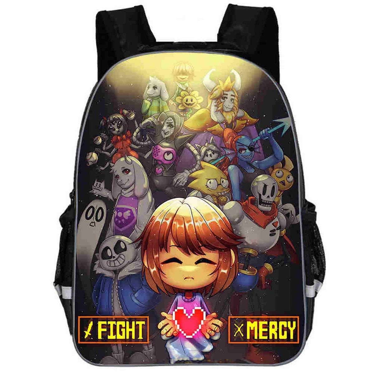 Quattro. 30x10x24CM PERSONAL ACCESSORIES Zaino stampato moda autotoon Stampa borsa Gioco Character Borsa per bambini della scuola primaria alunno Sei.   40x17x29CM
