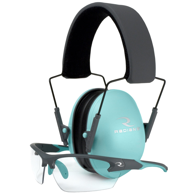 RAD RADLS0820CKCS Radians Lowest Muff/Glasses Aqua Hunting Earmuffs