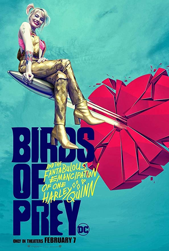 309972 BIRDS OF PREY MOVIE MARGOT ROBBIE HARLEY QUINN WALL PRINT POSTER CA