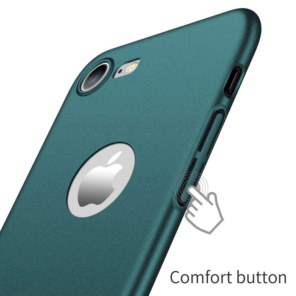 TVVT Kompatibel mit Hart PC iPhone 8 H/ülle Schwarz Ultra D/ünn 0,3mm Schrubben Hart Plastik Handyh/ülle Premium Schlanke Ultraleicht Schutzh/ülle f/ür iPhone 8