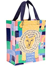 """Blue Q Handy Tote, Reusable Lunch Tote or Gift Bag, Sturdy, Easy-to-Clean, 10""""h x 8.5""""w x 4.5""""d, Made from 95% Recycled Material"""