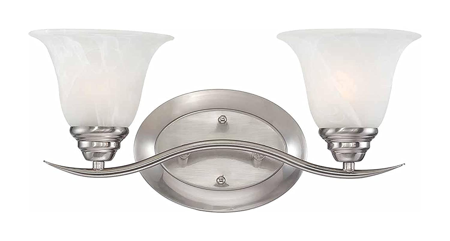 Vanity Lights Shine Up Or Down : Volume Lighting Trinidad 2-light brushed nickel bathroom vanity lovely - nambepueblo.org