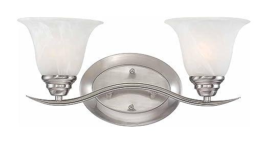 bathroom 2 light fixtures brushed nickel. volume lighting trinidad 2-light brushed nickel bathroom vanity 2 light fixtures