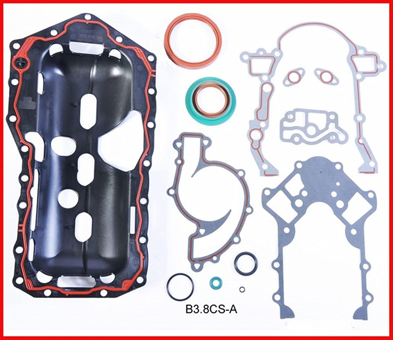 W//STAMPED OIL PAN 2000-2005 Chevrolet Buick Pontiac 3.8L 3800 V6 FWD ReRing Kit w//Full Gasket Set Rings Bearings FITS