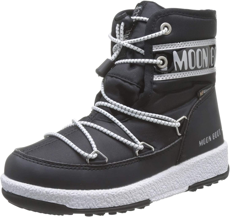 Moon-boot Jr Boy Mid WP 2 Botte de Neige Gar/çon