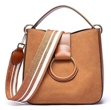 bb332e55ffebf SAIERLONG Damen Braun Echtes Leder Handtaschen Schultertaschen ...