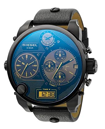 0af797b68 Diesel Mens Quartz Watch, Analog-Digital Display and Leather Strap ...