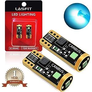 LASFIT 194 168 T10 192 2825 W5W LED Bulb Canbus Error Free, Non-Polarity