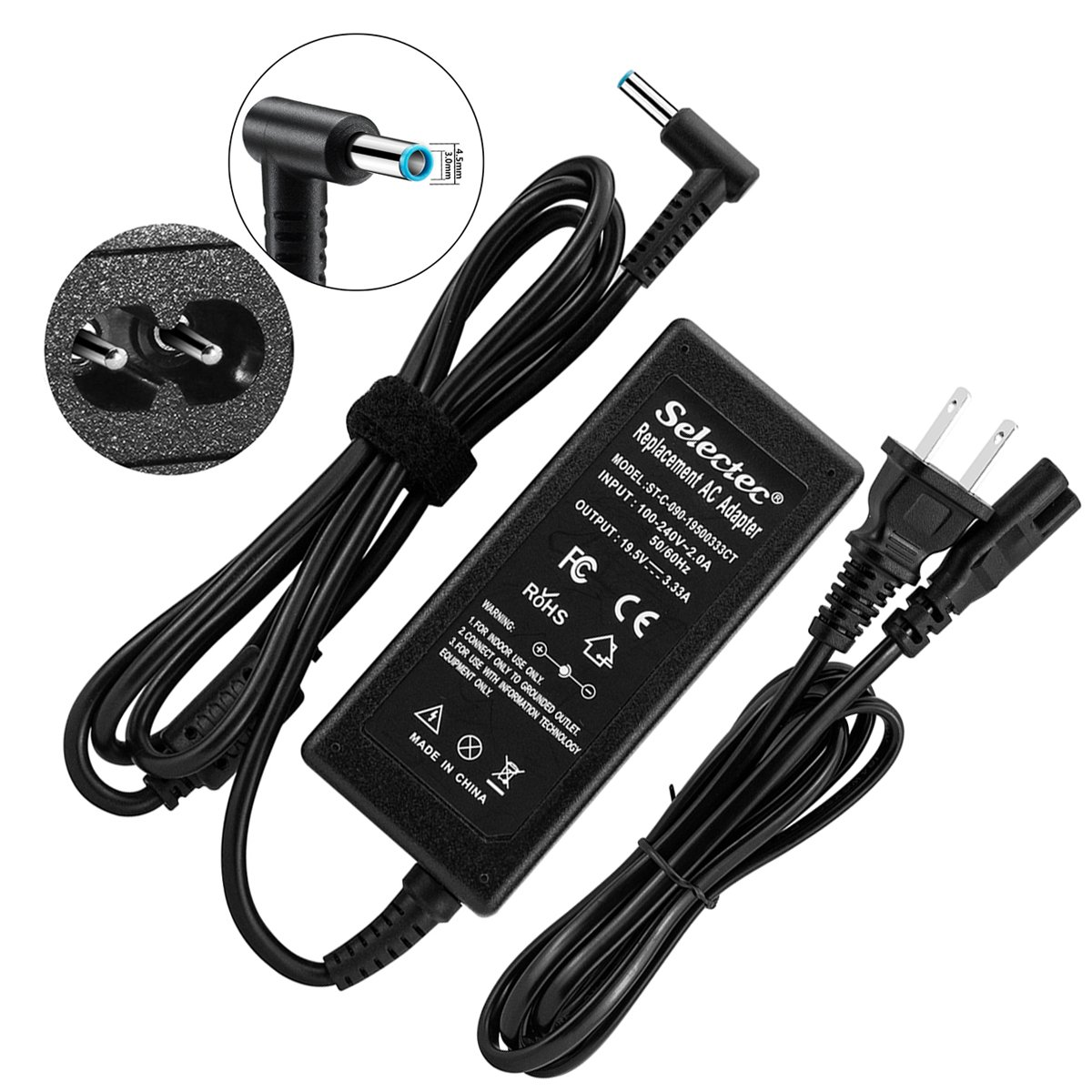 Selectec AC Adapter Charger For HP Stream 11 13 14 15 Notebook PC Series Power Cord Supply by Selectec (Image #1)