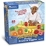 Learning Resources LER7287 Pretend & Play Sliceable Fruits & Veggies