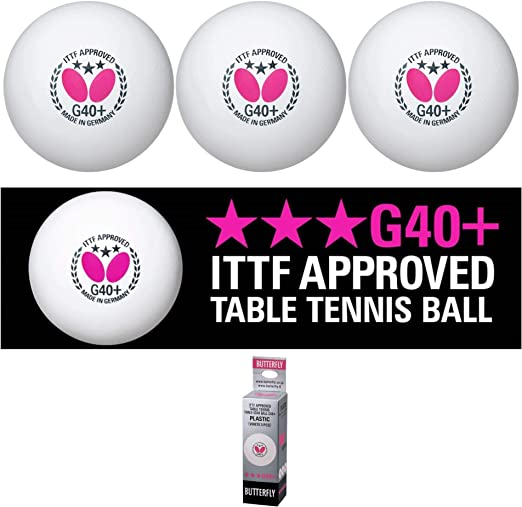 Butterfly G40+ Table Tennis Balls - The Best Bounce