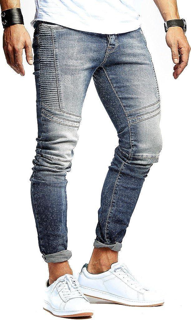 Leif Nelson Herren Jeans Hose Stretch Slim Fit Denim Blaue