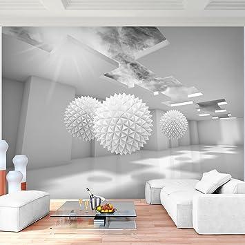Fototapete 3D   Grau Vlies Wand Tapete Wohnzimmer Schlafzimmer Büro Flur  Dekoration Wandbilder XXL Moderne Wanddeko