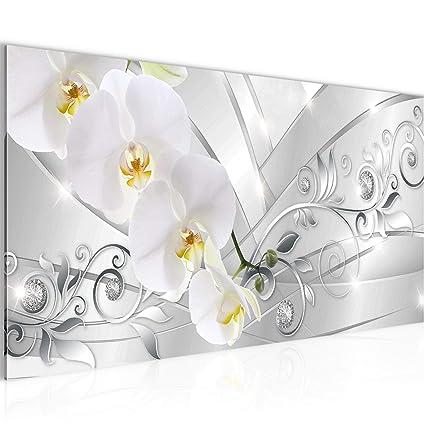 Bilder Blumen Orchidee Wandbild 100 x 40 cm Vlies - Leinwand Bild XXL  Format Wandbilder Wohnzimmer Wohnung Deko Kunstdrucke Pink 1 Teilig - Made  IN ...