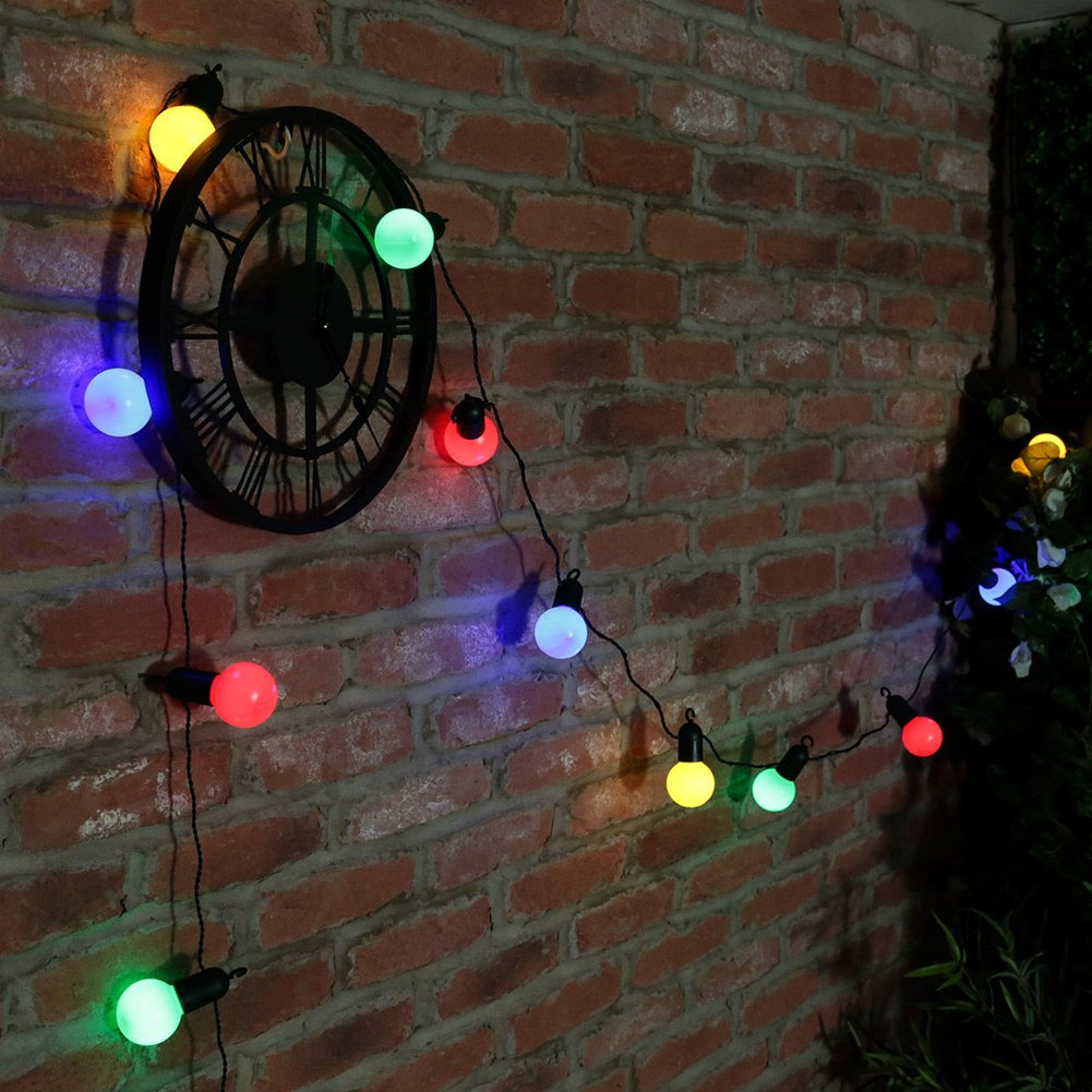 10 LED String Lights Outdoor Indoor Garden Lights,Decorative Lamps for Garden,Patio, Yard, Home, Chrismas Tree, Party,Decoration Lamps with US Plug EU Plug(Cool White,Color) by GEZICHTA