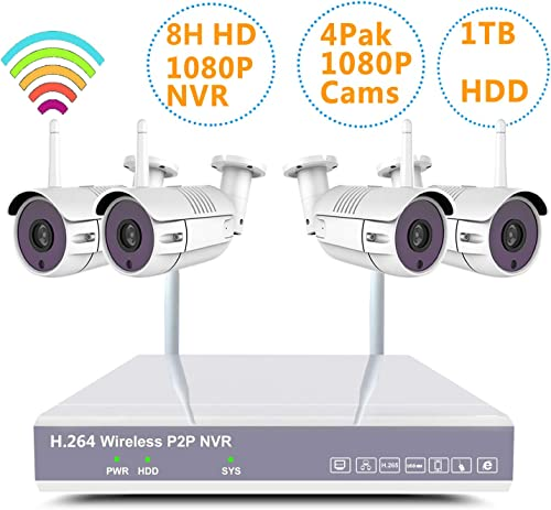 YXMN Home Wireless Security Camera System H.265 NVR Surveillance Package