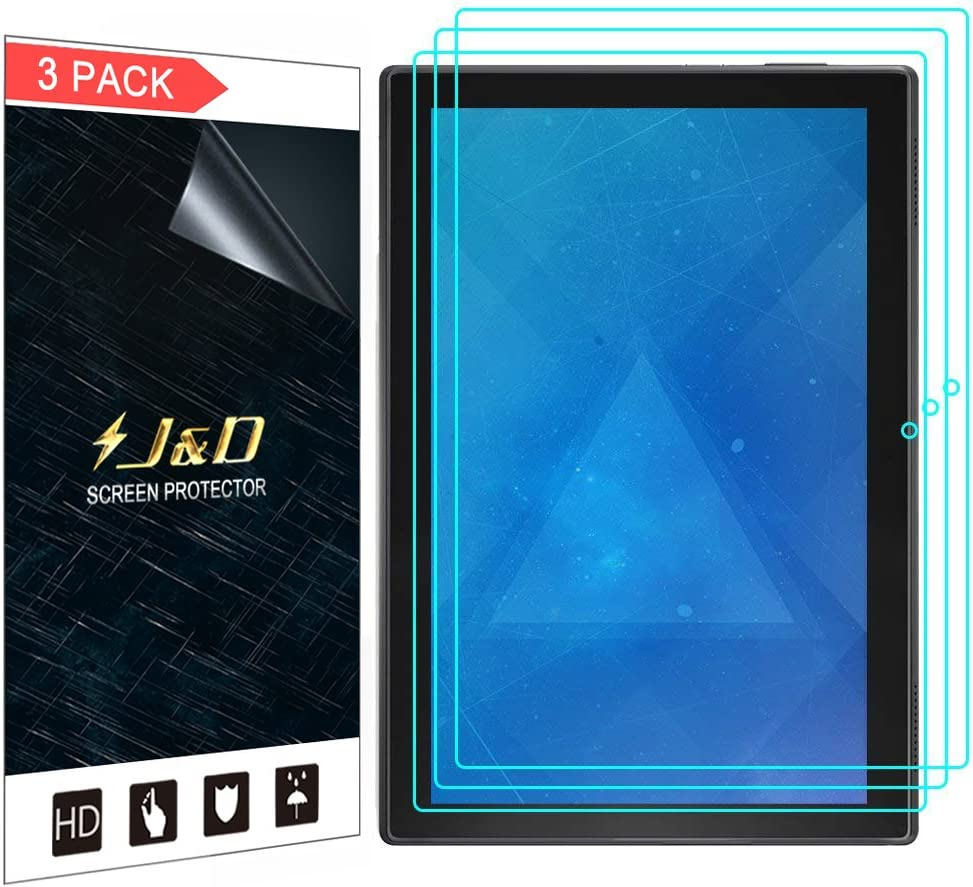J&D Compatible for 3-Pack Lenovo Tab 4 10-inch Android Tablet Screen Protector, Premium HD Clear Film Shield Screen Protector for Lenovo Tab 4 10-inch Android Tablet Crystal Clear Screen Protector