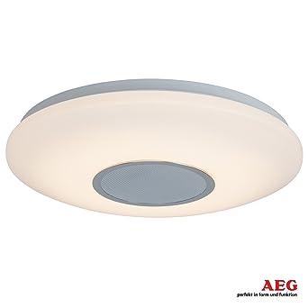 Lámpara LED de techo, con Altavoz con Bluetooth para escuchar música, intensidad regulable,
