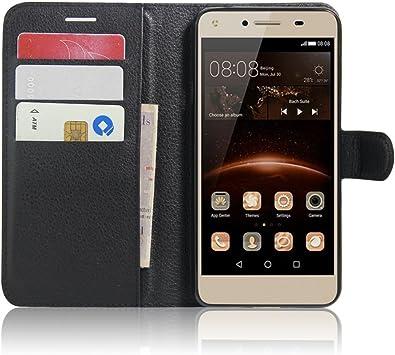 SMTR Huawei Y5II / Huawei Y5 2 Fundas de PU Cuero Flip, Standing ...