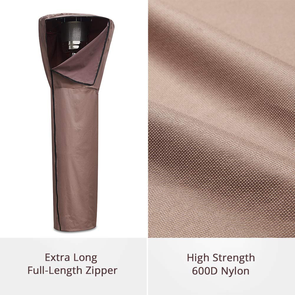 IGAN Patio Heater Head Cover Waterproof H Brown 34 x27 D Outdoor Heavy Duty 600D Nylon Fabric