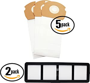 15 Replacement AS Vacuum Bags 68155 & 2 EF-6 Filter 69963 for Eureka - Compatible with Eureka AirSpeed AS1000A, Eureka AS1000A, Eureka AS1001A, Eureka AS1051A, DCF-21 Dust Cup Filter, Eureka AS1050, Eureka AS1053AX, Eureka AirSpeed Gold AS1001A, Eureka AirSpeed AS1050, Eureka AirSpeed AS1051A