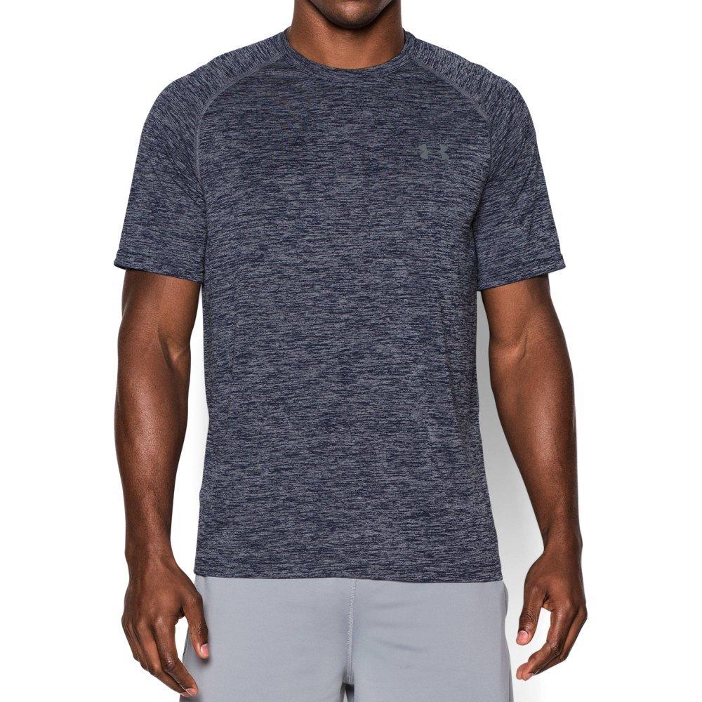 Under Armour Men's Tech Short Sleeve T-Shirt, Academy /Steel, Small