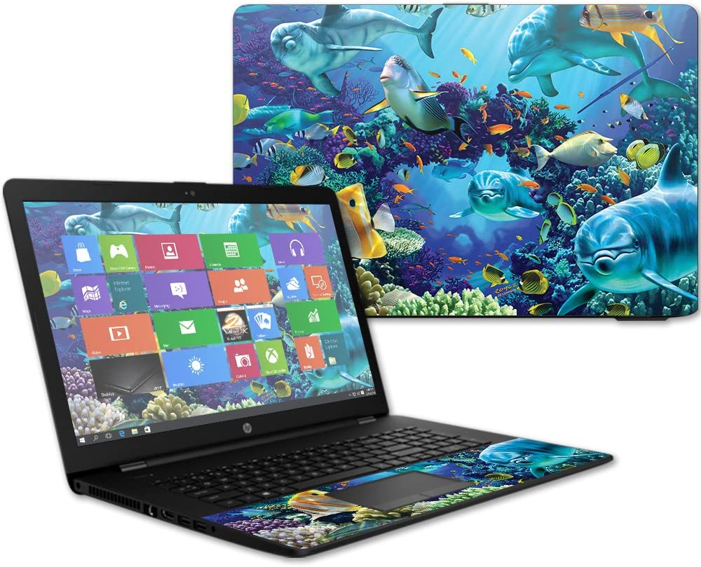 """MightySkins Skin Compatible With HP 17t Laptop 17.3"""" (2017) - Ocean Friends   Protective, Durable, and Unique Vinyl Decal wrap cover   Easy To Apply, Remove, and Change Styles   Made in the USA"""
