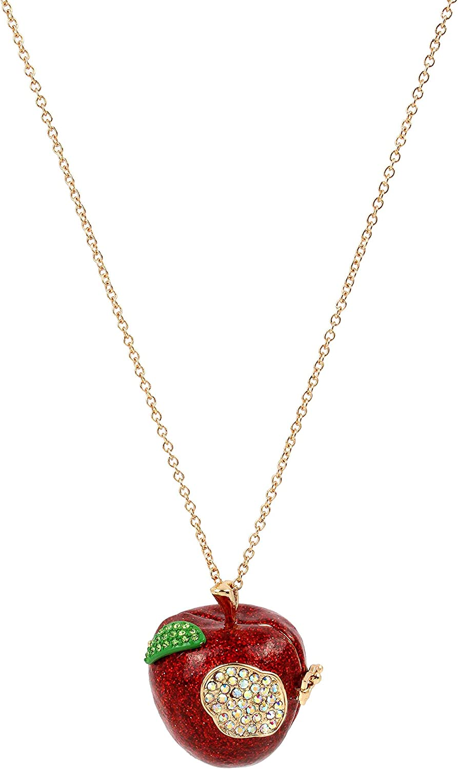 Betsey Johnson Apple Long Pendant Necklace