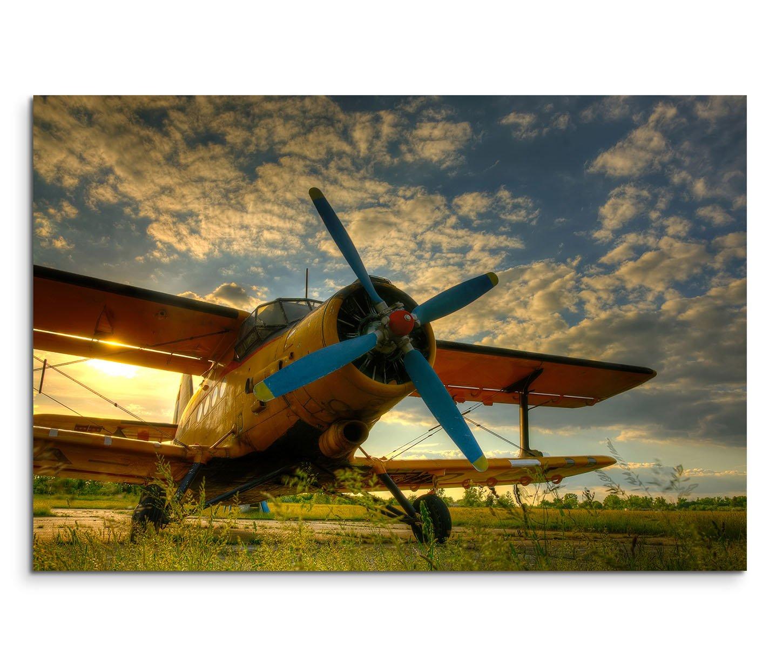 Modernes Bild 120x80cm Künstlerische Fotografie – Altes Flugzeug auf ...