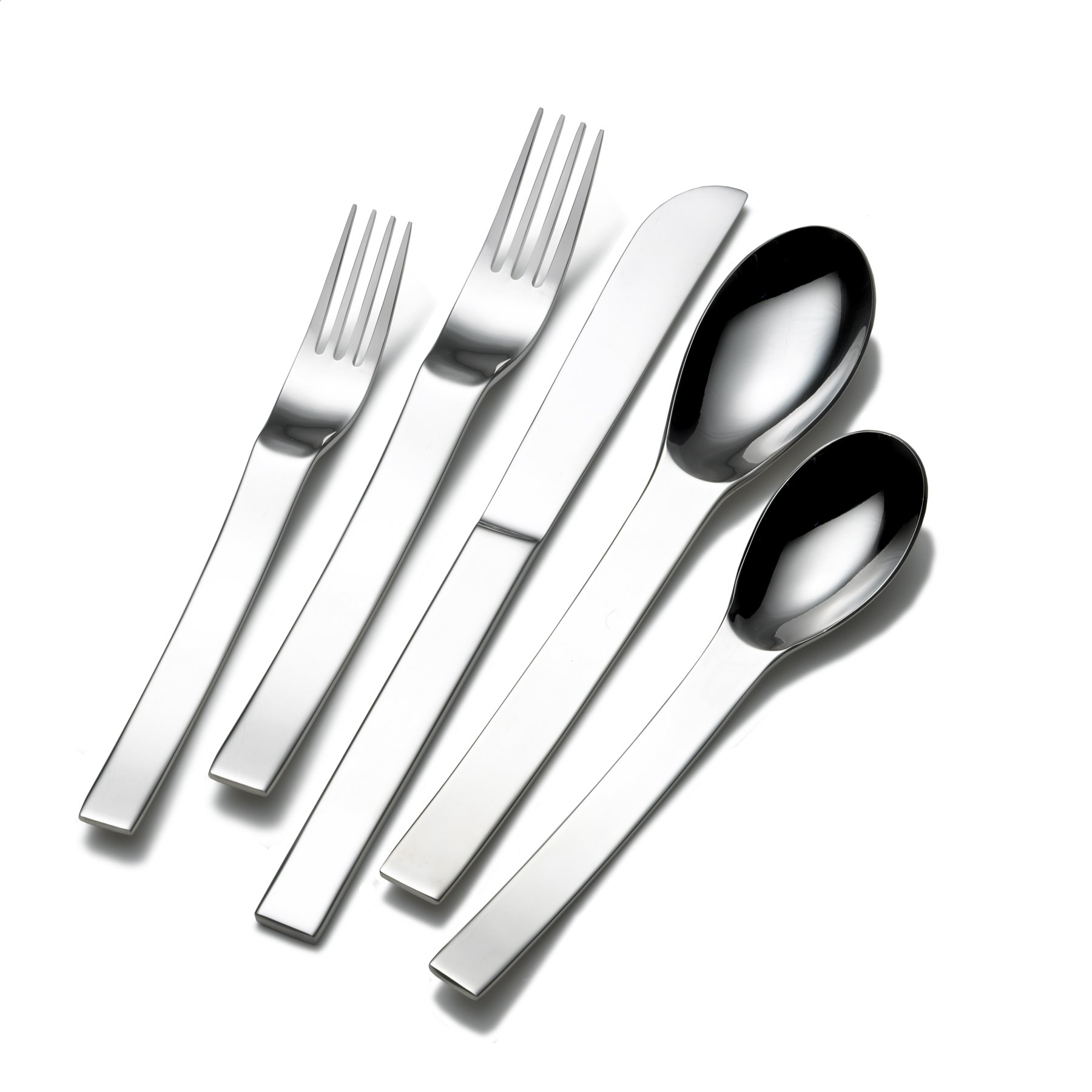 Sasaki 5081227 Aria 45-Piece Stainless Steel Flatware Set, Service for 8
