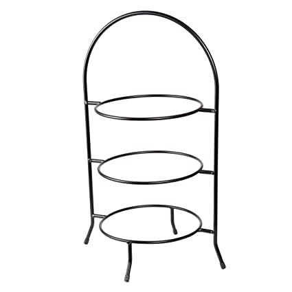 Creative Home 73045 3-Tier Dinner Plate Rack 20-Inch H  sc 1 st  Amazon.com : dinner plate stacker - Pezcame.Com