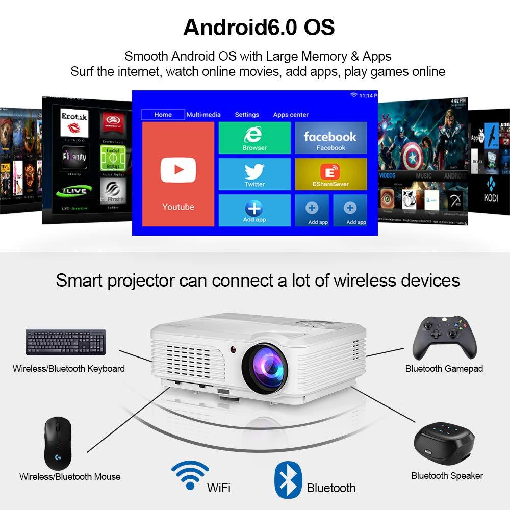 Proyectores de alta definición inalámbricos Bluetooth Home Cinema ...