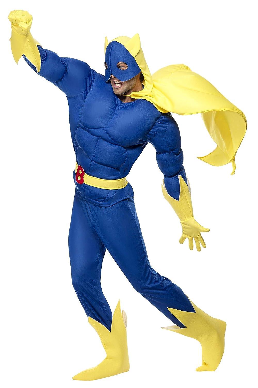 Bananaman - Disfraz de super plátano, talla XL (28082XL)