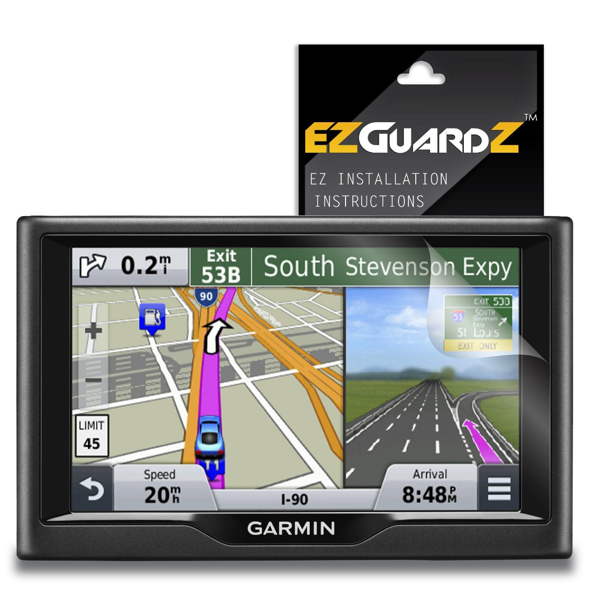 (2-Pack) EZGuardZ Screen Protector for Garmin Nuvi 57LM (Ultra Clear) by EZGuardZ (Image #1)