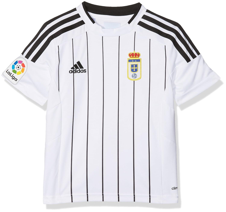 adidas Fort14 Jsy Y P Camiseta Real Oviedo Fc, Niños, Blanco (Blanco), 116: Amazon.es: Deportes y aire libre