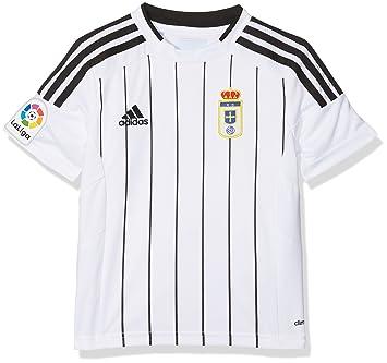 adidas Fort14 Jsy Y P Camiseta Real Oviedo Fc, Niños, Blanco (Blanco),